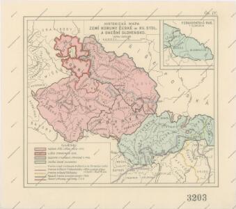 Historická mapa zemí Koruny České od XV. stol. a dnešní Slovensko