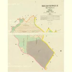 Kraschawitz (Krassawce) - c3510-1-001 - Kaiserpflichtexemplar der Landkarten des stabilen Katasters