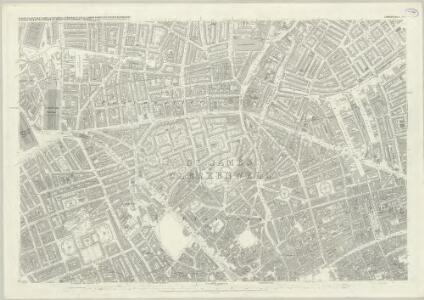 London (First Editions c1850s) XXVI (includes: Finsbury; Holborn; Islington; St Pancras) - 25 Inch Map