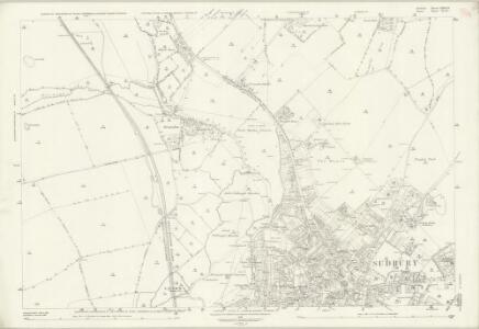 Suffolk LXXII.15 (includes: Ballingdon; Borley; Great Cornard; Long Melford; Sudbury) - 25 Inch Map