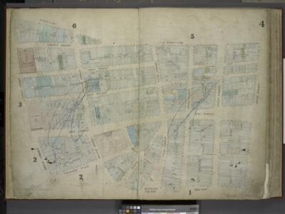 [Plate 4: Map bounded by Maiden Lane, South Street,   Old Slip, Hanover Square, Exchange Place, Broad Street, Nassau Street; Including Liberty Street, Cedar Street, Depeyster Street, Pine Street, Wall Street,        Hanover Street, Jone's Lane, Gouver