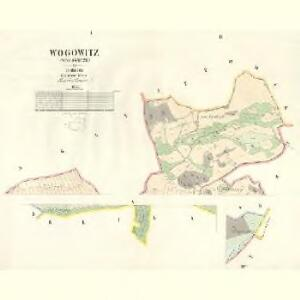 Wogowitz (Wogowicze) - c8740-1-001 - Kaiserpflichtexemplar der Landkarten des stabilen Katasters