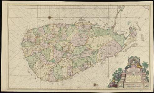 Caart van het Eyland Ceylon