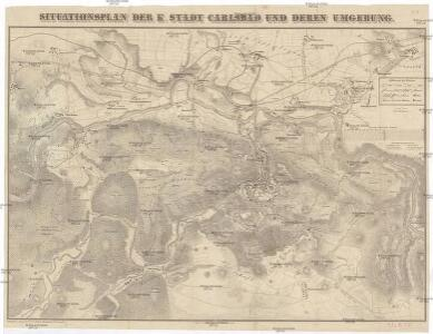 Situationsplan der k. Stadt Carlsbad und deren Umgebung