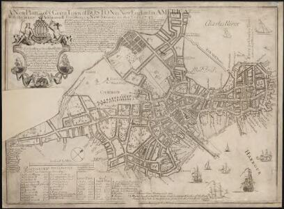 A new plan of ye great town of Boston in New England in America, with the many additionall buildings & new streets to the year 1743
