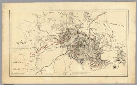 Map illustrating the Siege of Atlanta, Ga.