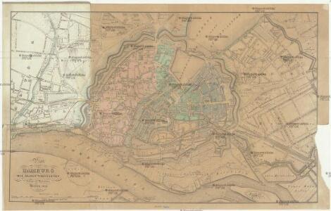 Plan von Hamburg mit seinen Vorstädten