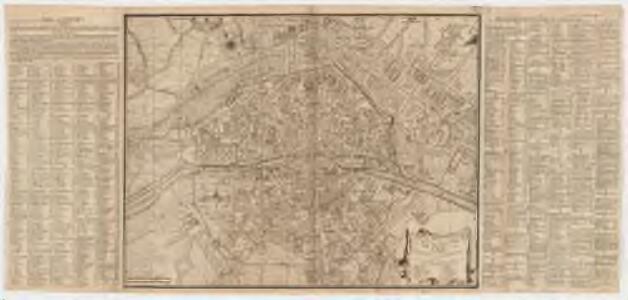 Plan de la ville, cité, université, et faubourgs de Paris avec ses environs : augmenter de plusieurs bastiments et remarques que l'on y a fait de puis peu tres exactement dessinés sur les lieux par *...*****