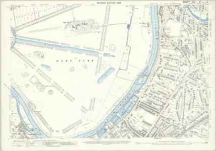 Middlesex XXV.12 (includes: Kingston Upon Thames; Long Ditton; Surbiton; Twickenham St Mary The Virgin) - 25 Inch Map
