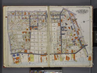 Queens, V. 2, Double Page Plate No. 2; Part of Long Island City, Ward 1; [Map bounded by Prospect St., 12th St., East River, Webster Ave.] / by and under the supervision of Hugo Ullitz.