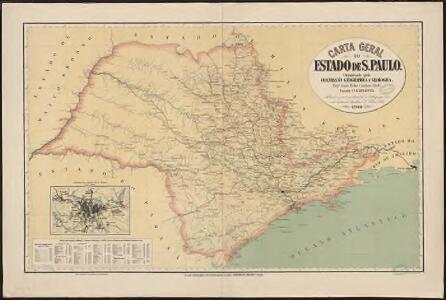 Carta geral do estado de Sao Paulo. Organizada pela Commissao Geographica e Geologica