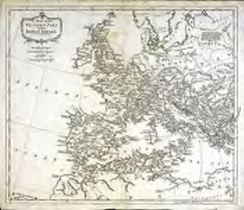 A map of the western part of the Roman empire