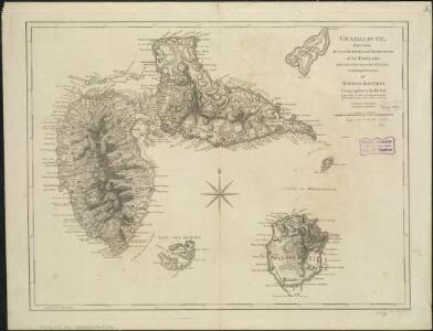 Guadaloupe, done from actual surveys and observations of the English, whilst the island was in their possession