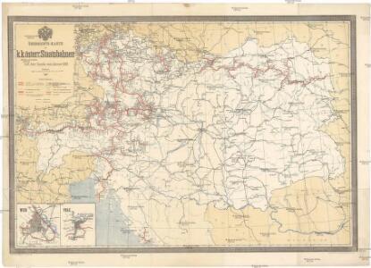 Übersichts-Karte der k.k. österr. Staatsbahnen mit dem Stande von Jänner 1889