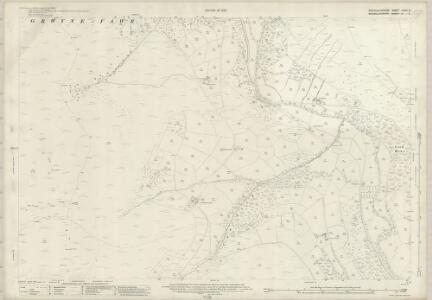 Brecknockshire XXXVI.6 (includes: Crucornau Fawr; Llanbedr Ystrad Yw; Partrishow) - 25 Inch Map