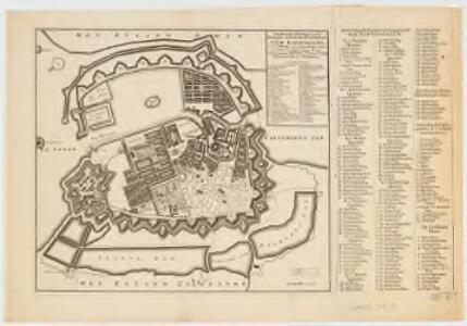 Naaukeurige aftekening van de koninglyke Deensche hoofd en residentie stad Koppenhagen : met de aftekening van de swaren brand op den 20 October en volgende dagen A° 1728