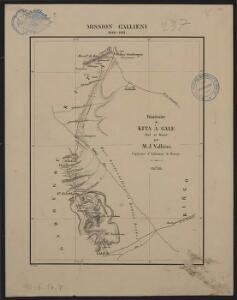 Mission Galliéni 1880-1881. Itinéraire de Kita à Gale