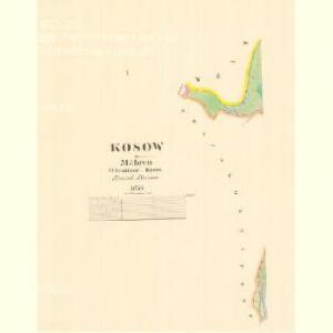 Kosow - m1324-1-001 - Kaiserpflichtexemplar der Landkarten des stabilen Katasters