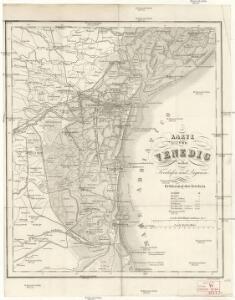 Karte von Venedig nebst Freihafen und Lagunen