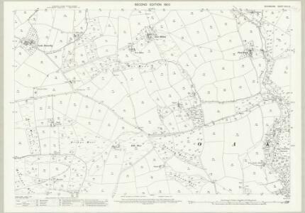 Devon XXIII.16 (includes: East Anstey; Oakford) - 25 Inch Map