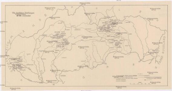 Der deutschen Siedlungen in der Slowakei