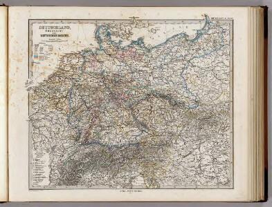 Deutschland, Ubersicht Des Deutschen Reichs.