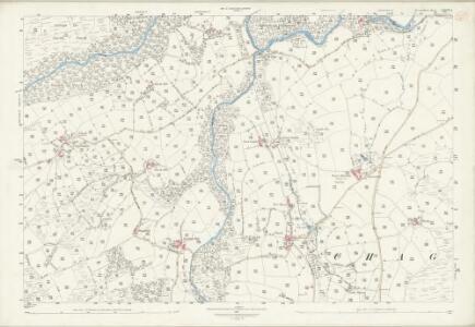 Devon LXXXIX.8 (includes: Chagford; Gidleigh; Throwleigh) - 25 Inch Map