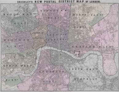 CRUCHLEY'S NEW POSTAL DISTRICT MAP OF LONDON