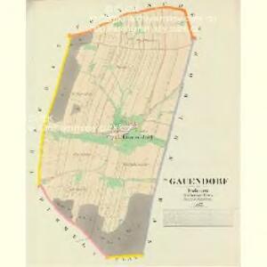 Gauendorf - c4818-1-001 - Kaiserpflichtexemplar der Landkarten des stabilen Katasters