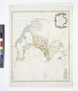 Carte de l'Amérique septentrionale, 1755.