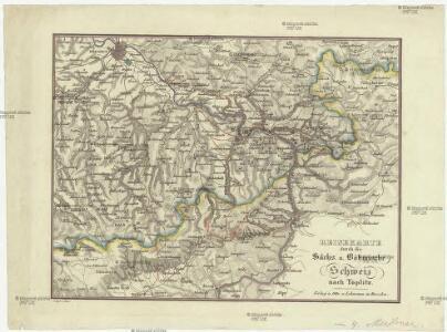 Reisekarte durch die Sächs. u. Böhmische Schweiz nach Töplitz