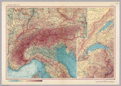 Alps.  Pergamon World Atlas.