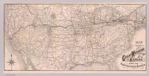 Map Great Western Railway of Canada.