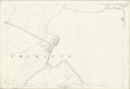 Northamptonshire XXVII.3 (includes: Barnwell; Hemington; Luddington; Thurning) - 25 Inch Map