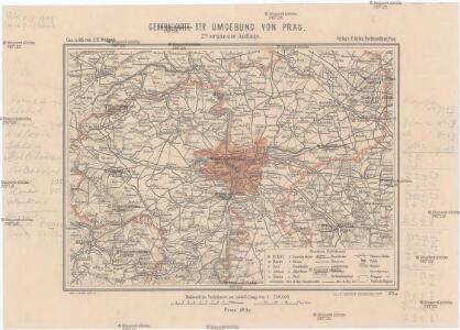Generalkarte der Umgebung von Prag