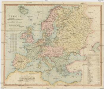 Europe divided according to the general treaty signed 1.st june 1815 in Congress at Vienna