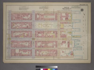 Plate 23, Part of Section 3: [Bounded by (E. 37th Street, (East River Piers) First Avenue, E. 32nd Street and Third Avenue.]