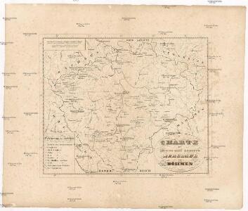 Charte der älteren und neueren Bergbaue in Böhmen