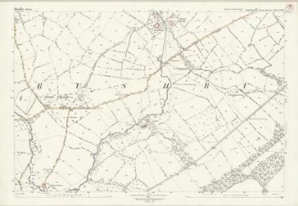 Shropshire LVI.12 (includes: Rushbury) - 25 Inch Map