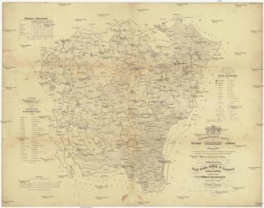Topographische Karte der Herrschaft Gratzen in Böhmen