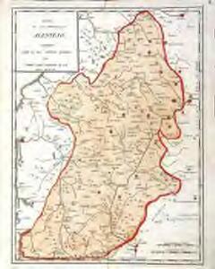 Mapa de la provincia de Alentejo