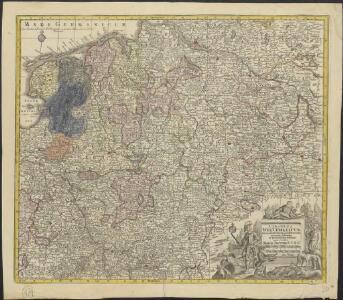 Circulus Westphalicus in suas provincias et ditiones accurate distinctus et recentissime delineat