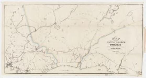Map of the Boston & Maine Railroad : showing its relative position & connection with other railroads