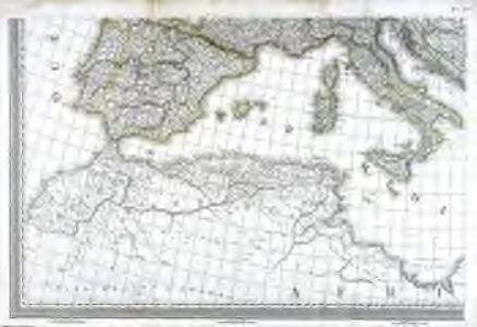 Carte d'Europe ou sont tracées les limites des empires, royaumes, et etats souverains, feuille 5