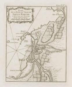 Plan de la Baye et Ville de Sainte Marthe et de la coste aux Environs