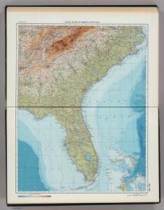 203-204.  United States of America, South East.  The World Atlas.