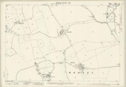 Suffolk LXXII.10 (includes: Belchamp Walter; Borley; Foxearth; Liston; Long Melford) - 25 Inch Map