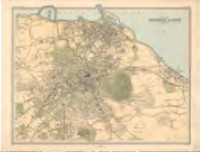 Plan of Edinburgh and Leith - Bartholomew's 'Survey Atlas of Scotland'