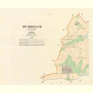 Meshorsch (Mezhorz) - c4563-1-001 - Kaiserpflichtexemplar der Landkarten des stabilen Katasters