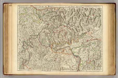 Le Cours du Rhin depuis Worms, jusqu'a Bonne, et le pays adjacens.